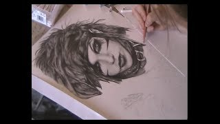 Andy Biersack drawing