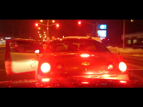ROAD RAGE in Ottawa, Ontario, Canada on New Years Eve
