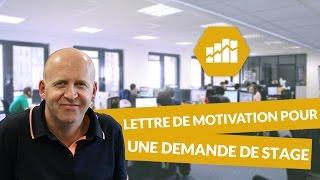 Lettre de motivation pour une demande de stage - Marketing - digiSchool