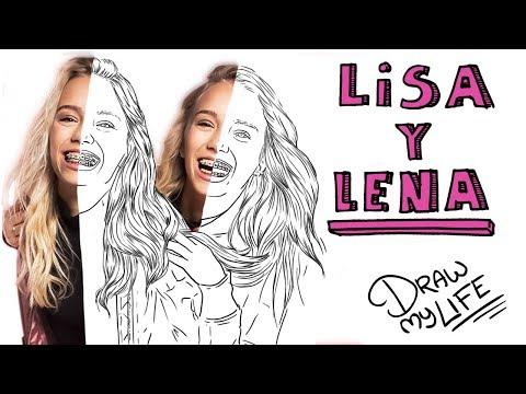 LISA Y LENA | Draw My Life (Las gemelas más famosas de Musically)