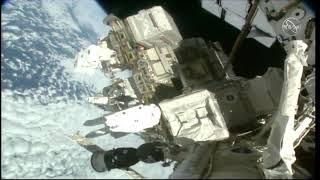Spacewalkers Set Up Work Site Over Atlantic Ocean - EVA 53