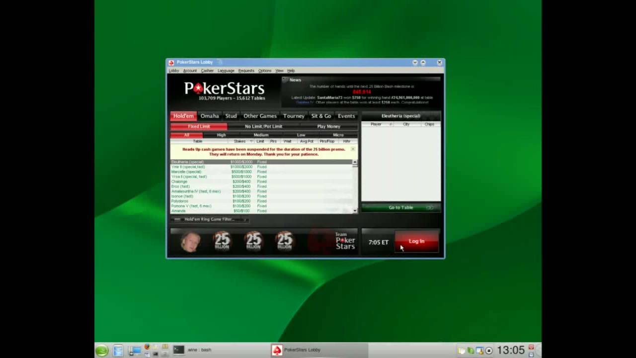 pokerstars wine