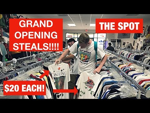 CRAZY STEALS AT A NEW VINTAGE STORES GRAND OPENING!
