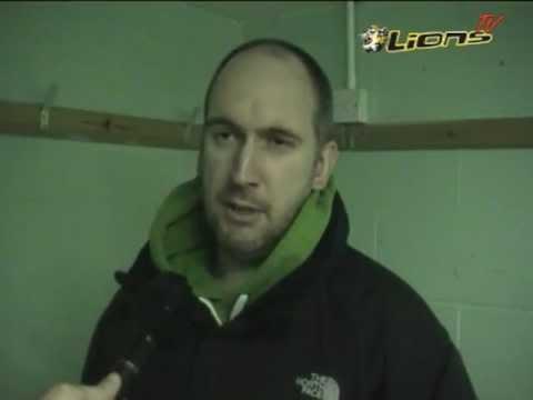 LionsTV - Post-Game Interview with Lions Head Coach Matt Bradbury - Metros 2 Lions 5 - 03-03-12