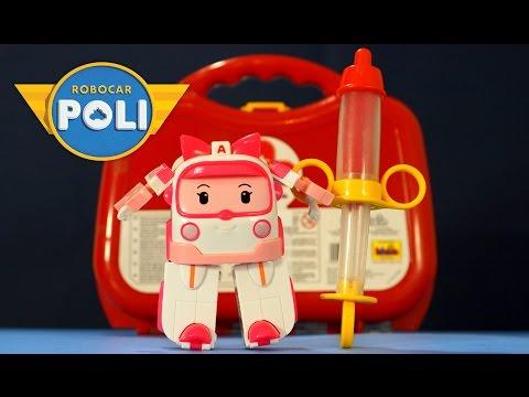 Мультик из игрушек Робокар Поли и его друзья - на русском. Игрушки для Девочек. Медицинский набор