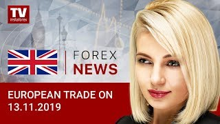 InstaForex tv news: 13.11.2019: Euro and pound muted as traders await news from US (USD, EUR, GBP)