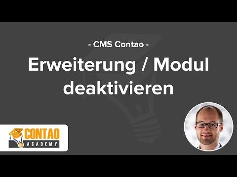 Contao 3.5 Erweiterung Deaktivieren