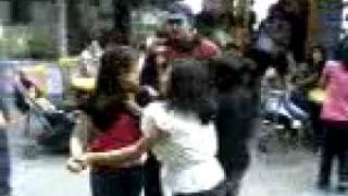 Girls fight in Shimla--In mall road