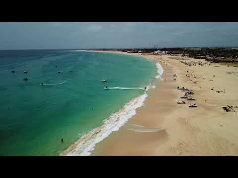 Cabo Verde - DRONE PONTAO E PRAIA DE SANTA MARIA