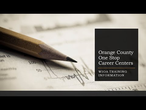 WIOA Training Information | Orange County NY Career Center