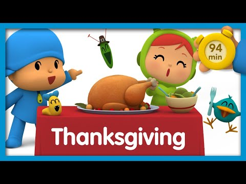 🐓 POCOYO AND NINA - Thanksgiving [94 minutes]   ANIMATED CARTOON for Children   FULL episodes