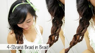 Sweet and Unique 4-Strand Braid