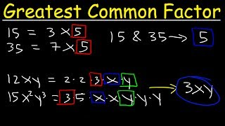 How To Find The Greatest Common Factor Quickly!