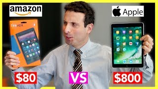 $80 Tablet vs $800 Tablet Review (Amazon Fire Tablet VS iPad Pro)