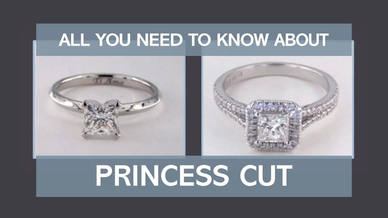 Princess Cut Diamond Cut Quality Engagement Ring Settings