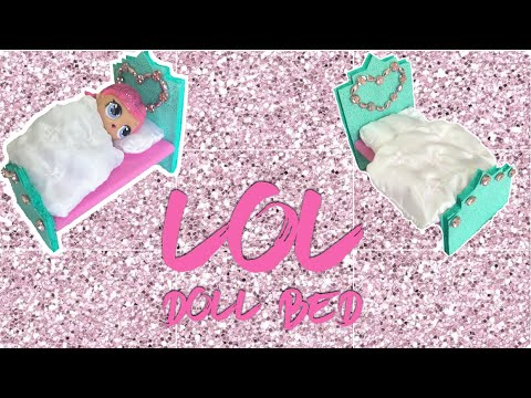LOL doll bed craft DIY