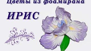Цветы из фоамирана. ИРИС из фома своими руками