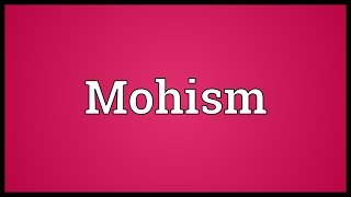 Mohism Meaning