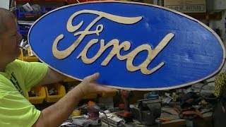 Handheld Router Project - Ford Sign