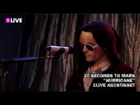 30 Seconds to Mars 'Hurricane' acoustic - YouTube