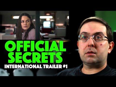 REACTION! Official Secrets International Trailer #1- Keira Knightley Movie 2019