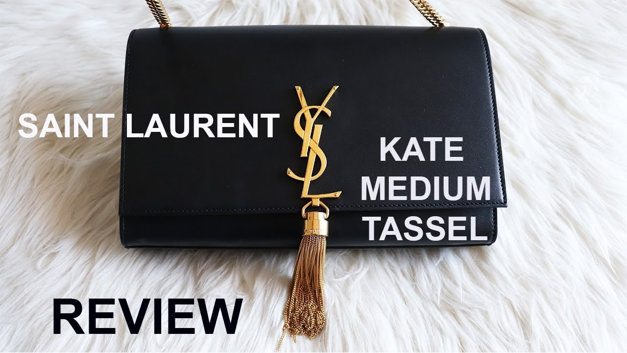 8197e937c SAINT LAURENT KATE MEDIUM TASSEL || REVIEW - YouTube