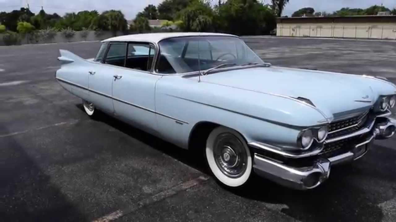 Walk Around & Start 1959 Cadillac 4 Door Flat Top #2376 ...