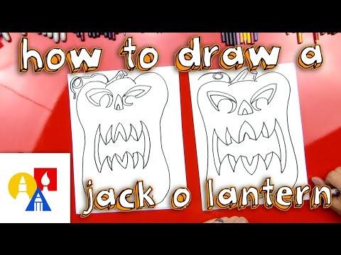 How To Draw 3d Jack Olantern