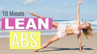 Lean Abs Workout - 10 MINUTE FLAT BELLY | Rebecca Louise
