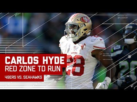 Carlos Hyde Huge Run & Red Zone TD Blast!   49ers vs. Seahawks   NFL