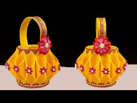 how-to-make-plastic-bottle-&-foam-basket-in-easy-way-|-easter-basket-ideas-|-simple-diy-foam-basket