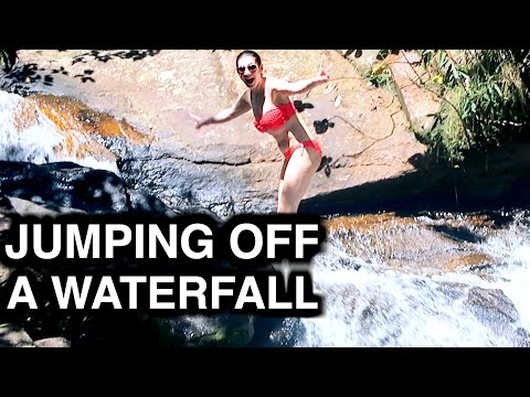 JUMPING OFF A WATERFALL - TRAVEL VLOG 292 BRAZIL | ENTERPRISEME TV