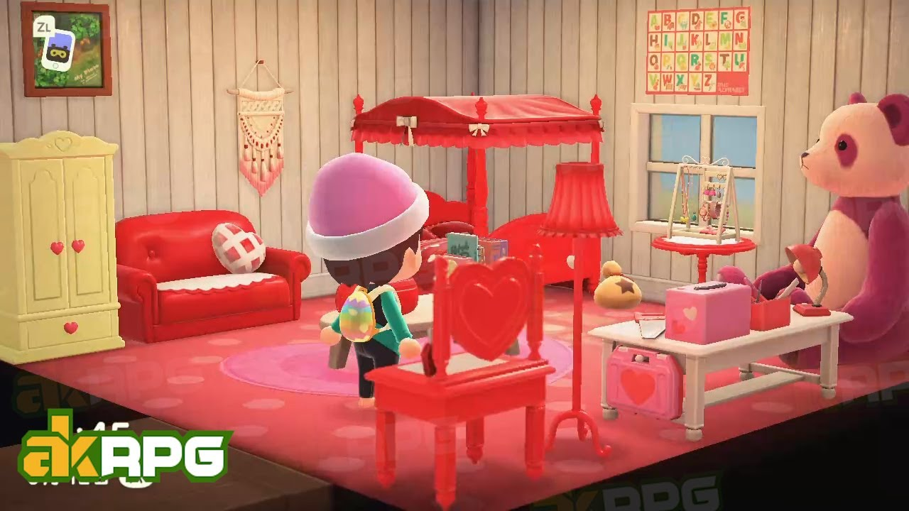 Acnh Red Cute Bedroom Living Room Design Best Animal Crossing Design Ideas Youtube