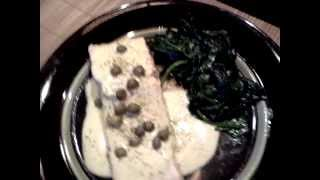 Poached Salmon Wilted Spinach