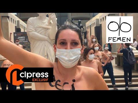 Action Femen au musée d'Orsay (13 septembre 2020, Paris)