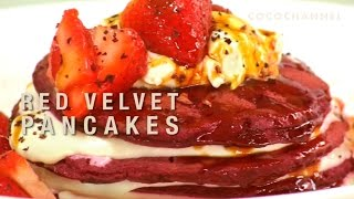How To Cook Red Velvet Pancakes - Using All Natural Ingredients And Colors