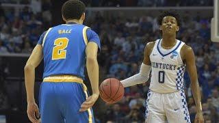 Kentucky beats UCLA 86-75! De'Aaron Fox 39 points, Lonzo Ball 10! 2017 NCAA March Madness Sweet 16