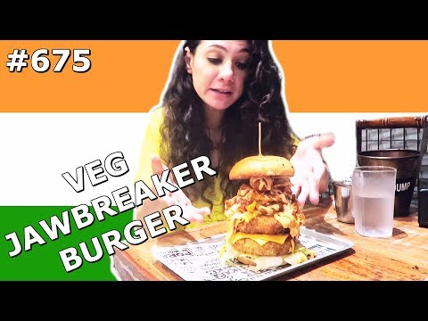 BIGGEST VEGETARIAN BURGER IN MUMBAI INDIA DAY 675 | TRAVEL VLOG IV