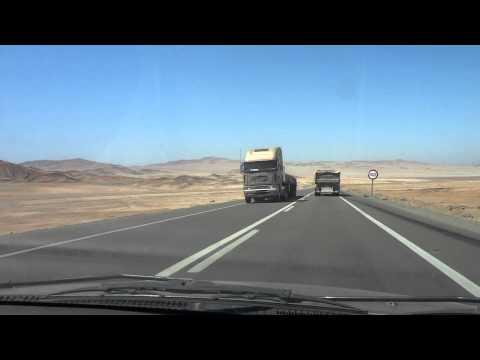 Driving Pan American Highway Dunes Road Chile