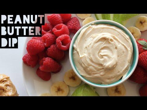 3 Ingredient Healthy Peanut Butter Dip Recipe | How To Make Healthy Peanut Butter