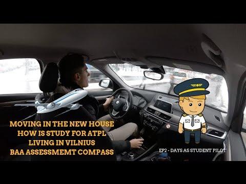 BAA Assessment 💻    Living in Vilnius 💶   Study for ATPL 🛩   VLOG 2 - Days as student pilot