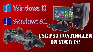 How To Use PS3 Controller On Your PC Windows 10 / 8.1 Via USB Cable
