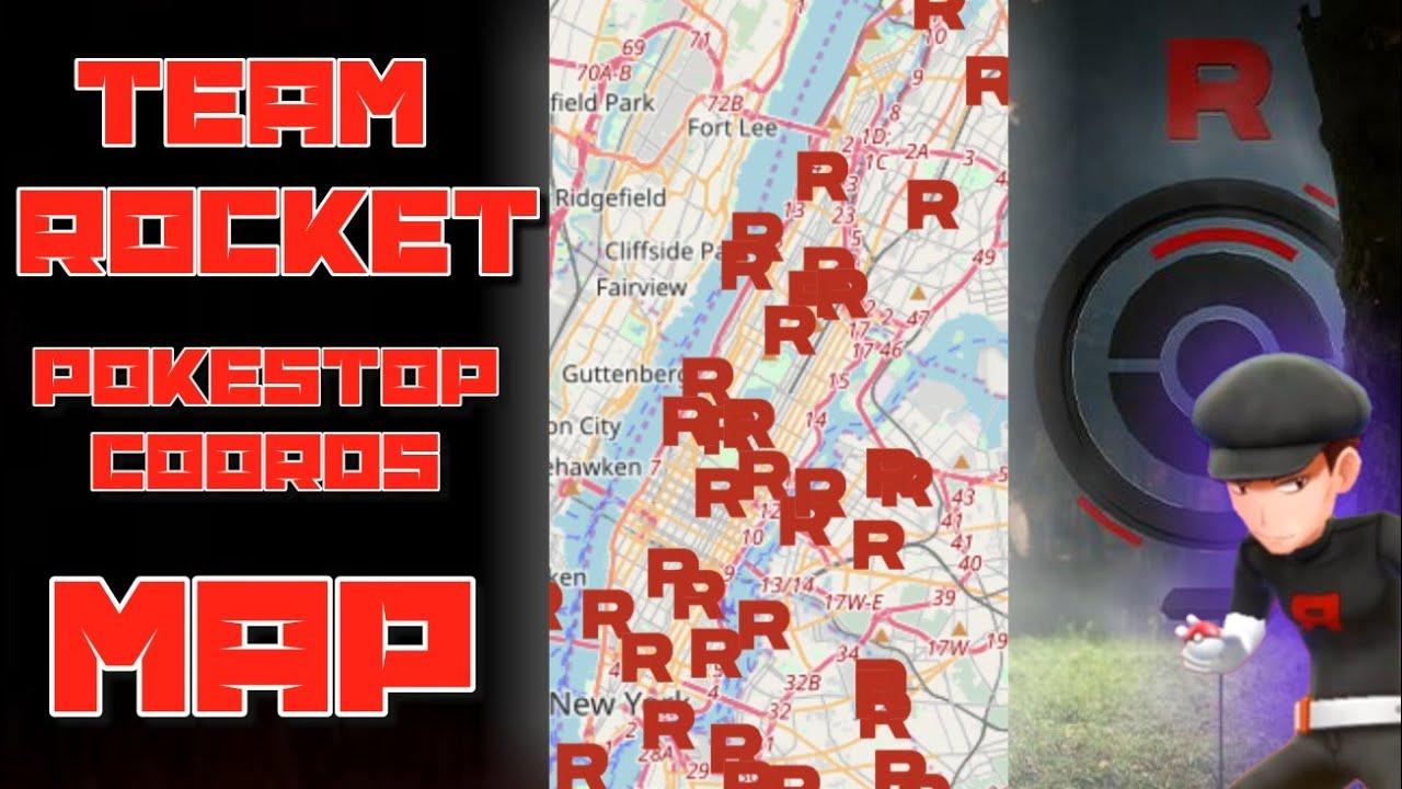 TEAM ROCKET POKESTOP COORDINATES MAP! TEAM ROCKET POKESTOP COORDS!