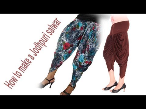 ♥ How to make a jodhpuri salwar ♥