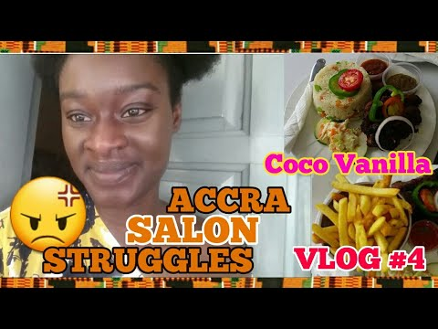 HAIR SALON STRUGGLES◇COCO VANILLA|ACCRA  GHANA VLOGS - EXPLORE WITH ME|MOVING TO GHANA-WEST AFRICA