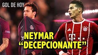 neymar fue decepcionante   james el nuevo jefe del bayern
