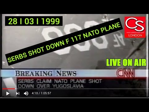 Serbs Shot Down Nato Plane F 117 I LIVE ON AIR I 28 03 1999 I* MUST SEE *