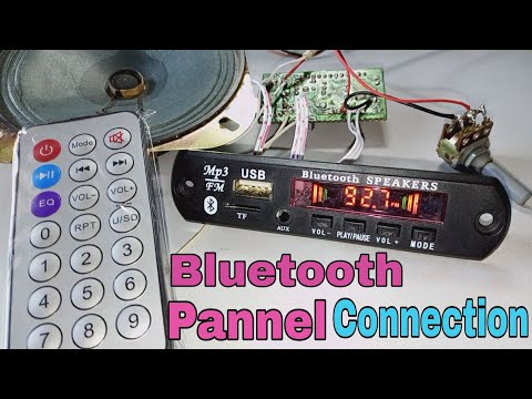 Bluetooth pannel (module) connection in 6283 ic amplifier kit in Hindi 🍃