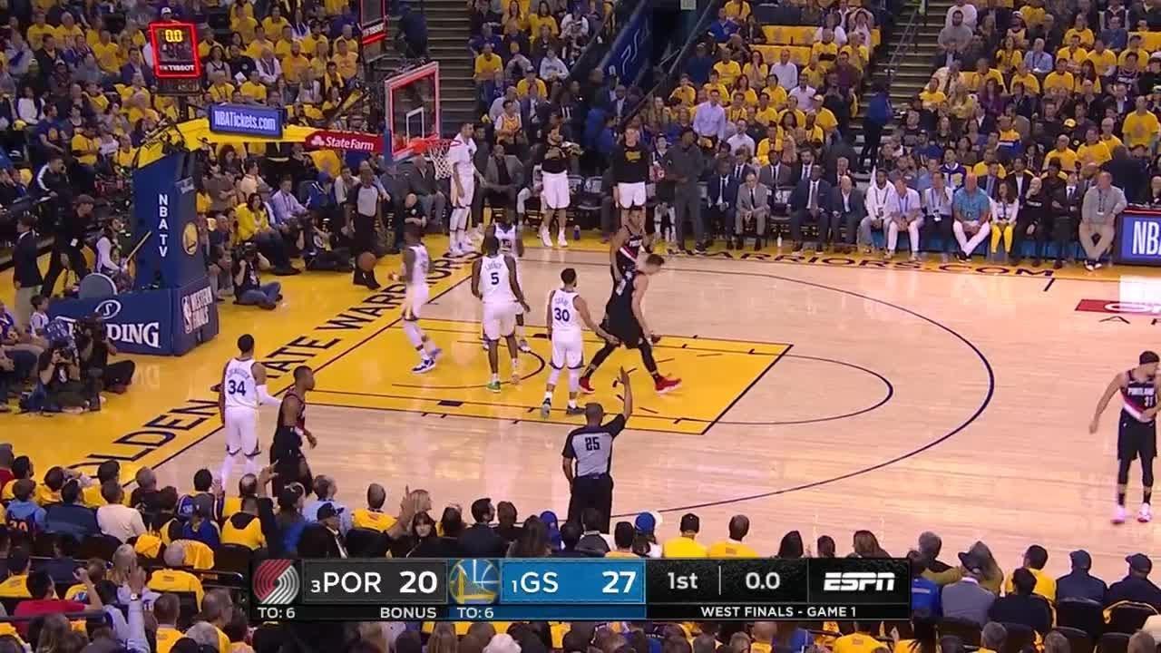 1st Quarter, One Box Video: Golden State Warriors Vs
