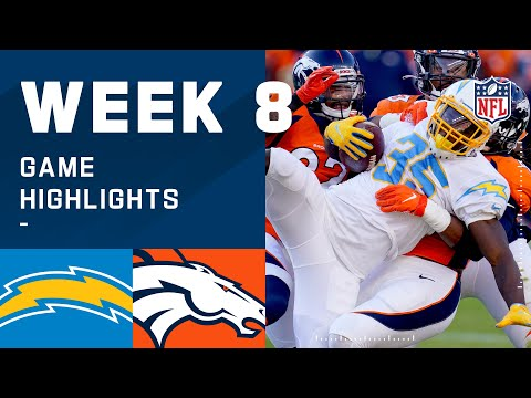 Chargers vs. Broncos Week 8 Highlights | NFL 2020